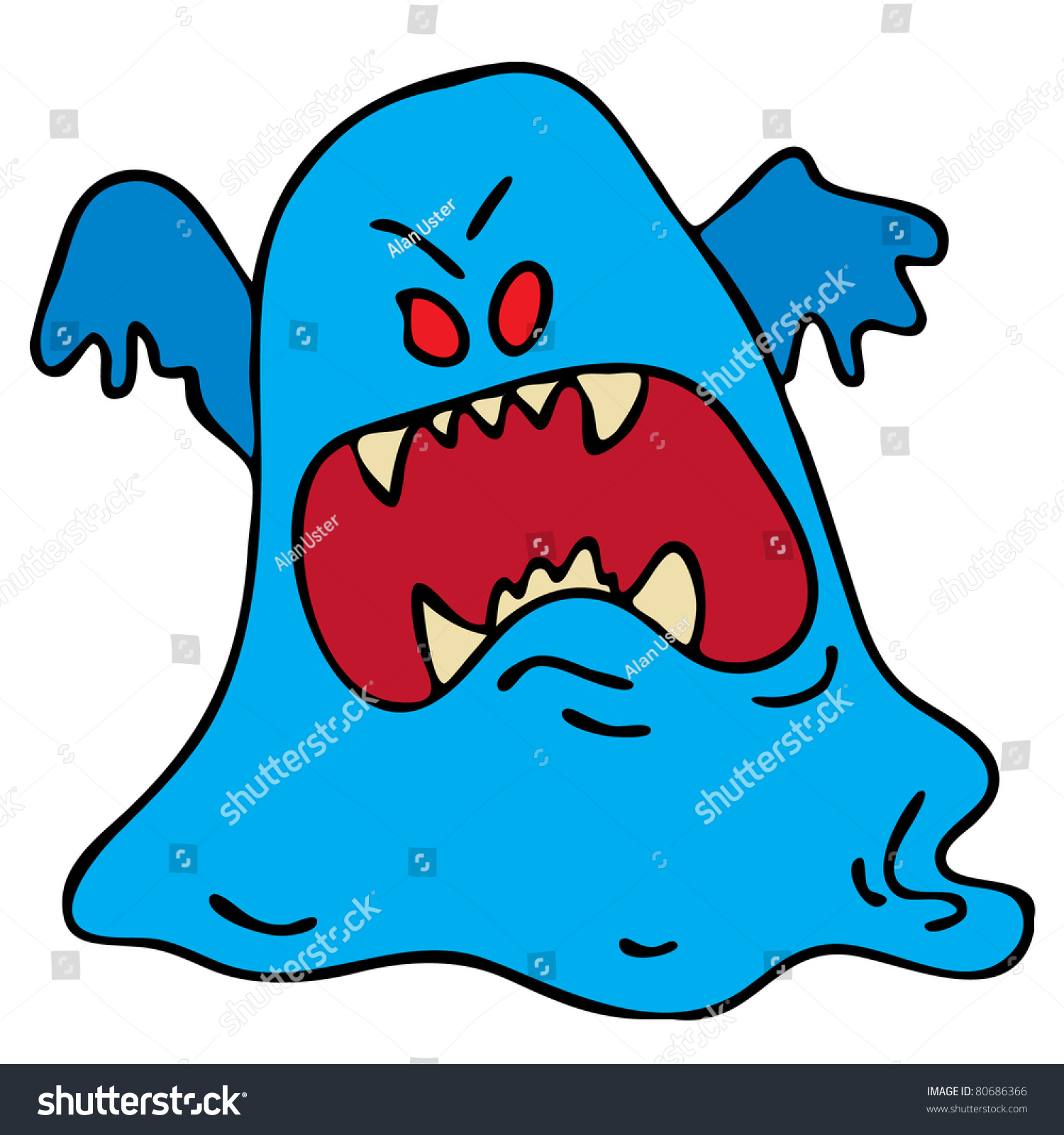 Cartoon Ghost Stock Vector 80686366 - Shutterstock