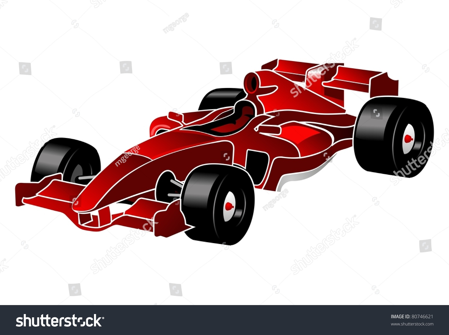 Formula One Red Car F_1 Stock Vector Illustration 80746621 ...