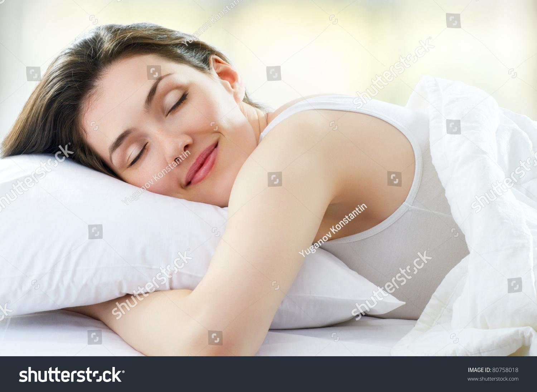 Beautiful Girl Sleeps Bedroom Stock Photo 80758018 Shutterstock