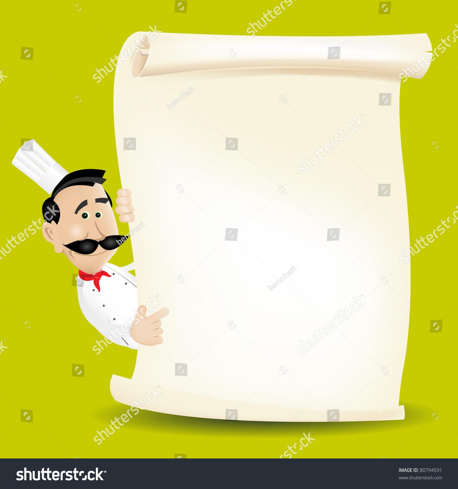 chef cook restaurant menu illustration chef stock illustration