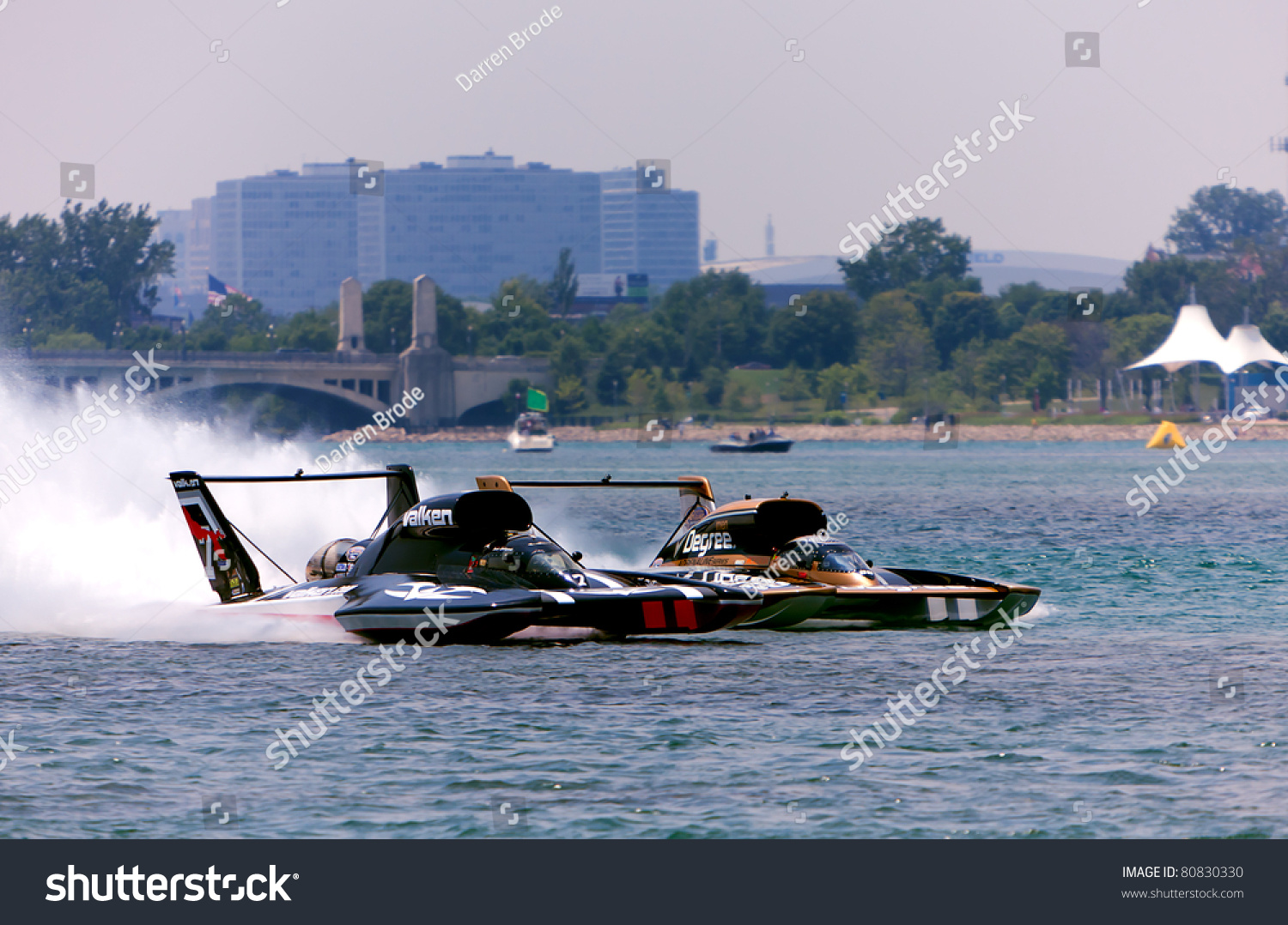 Detroit July 10th Unlimited Hydroplanes Race Stock Photo