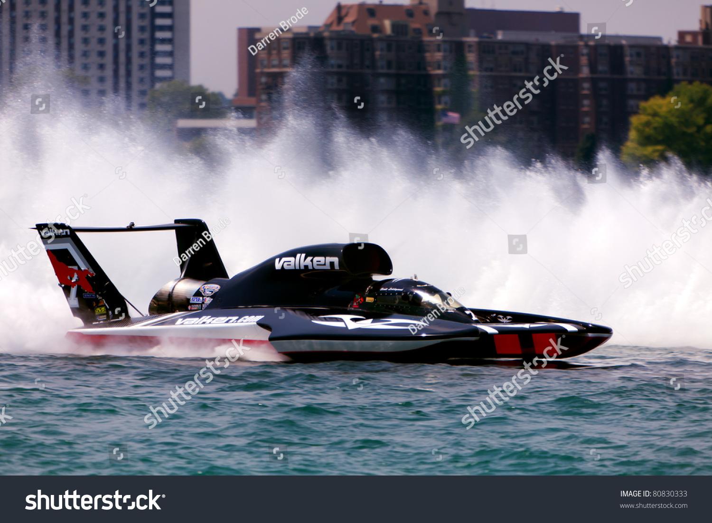 Detroit July 10th Valken Unlimited Hydroplane Stock Photo (Edit Now