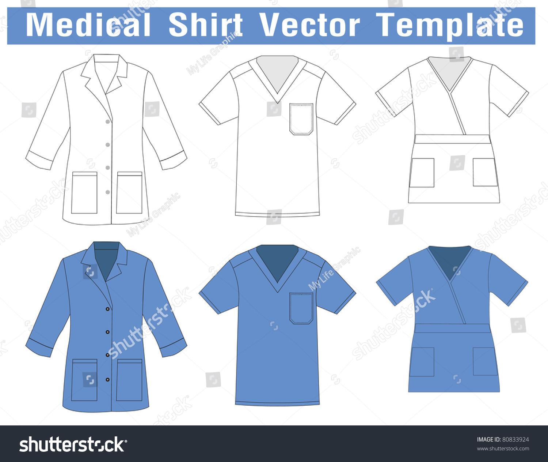 Shirt uniform design vector - Medical Shirt Uniform Vector Template