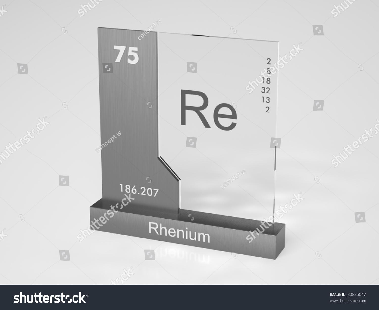 Rhenium Symbol Chemical Element Periodic Table Stock Illustration