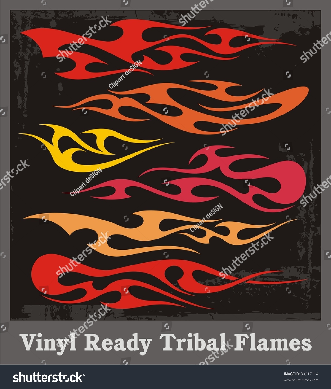 Tribal car sticker design - Vinyl Ready Tribal Flames Vector Graphics Great For Car Motorbike And T