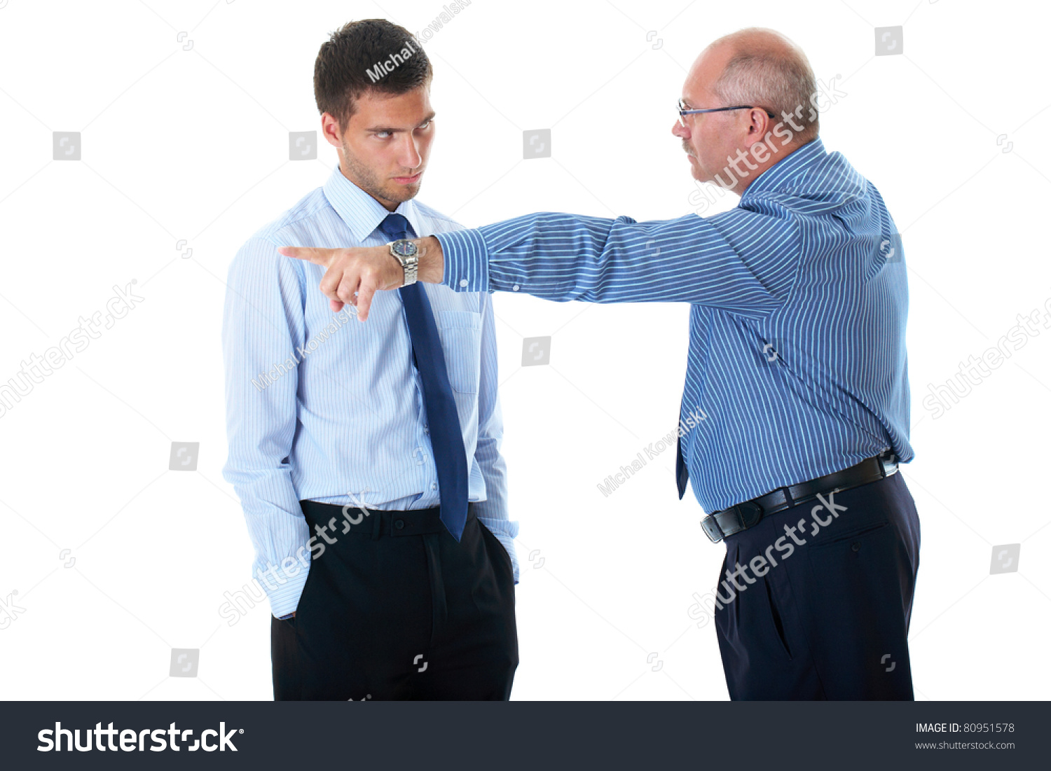 junior office worker gets fired by stock photo shutterstock junior office worker gets fired by senior manager point out his hand and finger