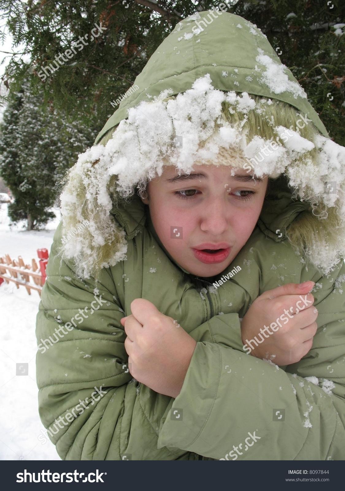 The Freezing Girl Stock Photo 8097844 : Shutterstock