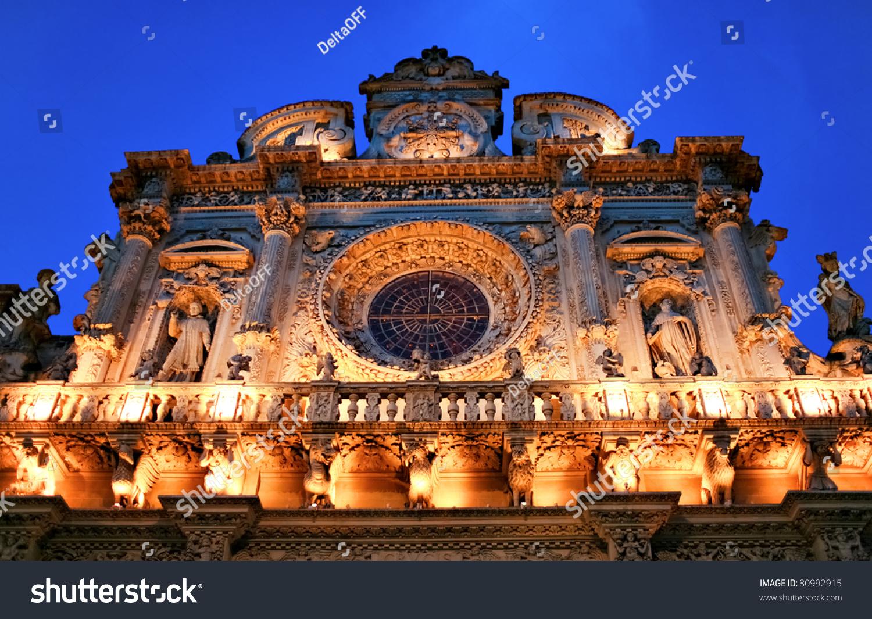 italy lecce historic center santa croce stock photo 80992915