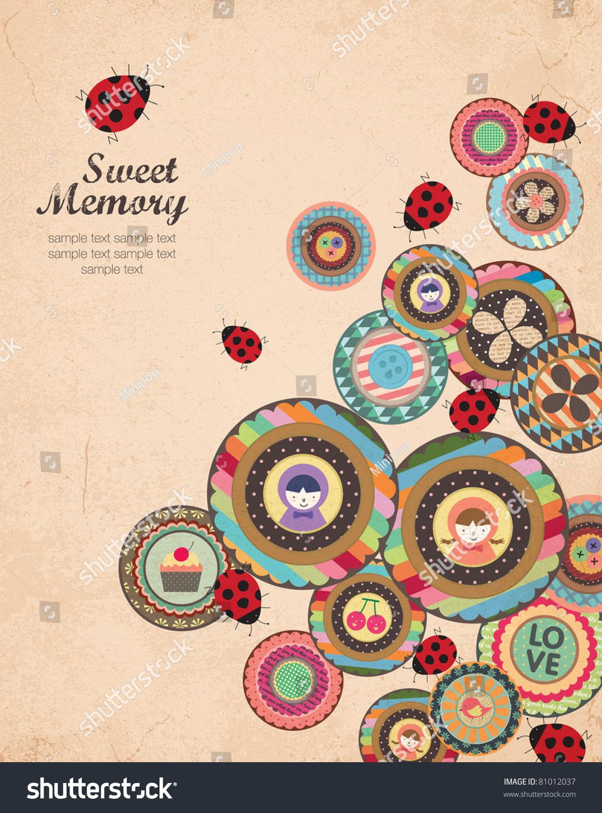 Scrapbook cover - Creative Cover And Album Art Design In Retro Style A Lot Of Scrapbook Element