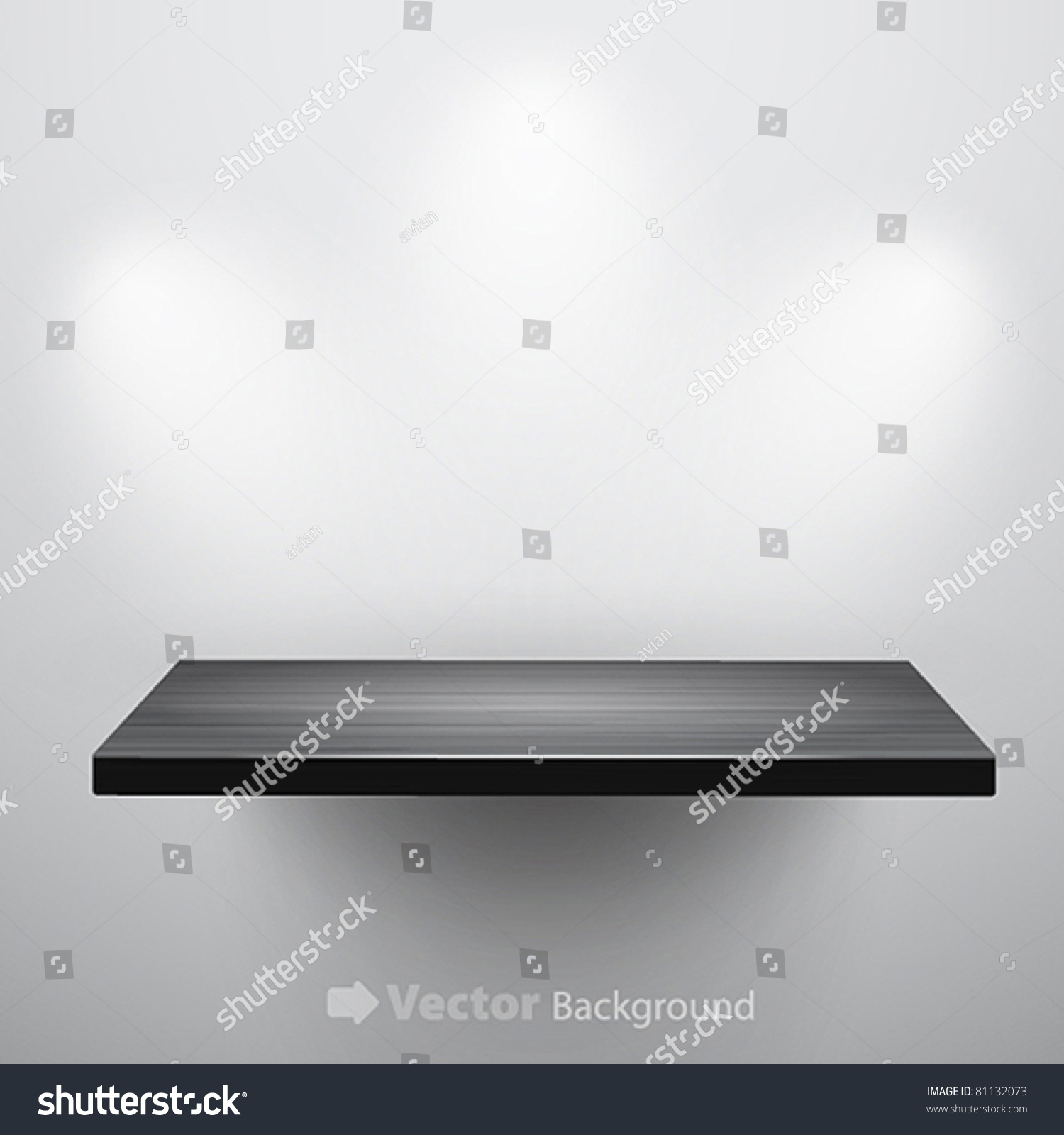 Exhibition D Vector : D isolated empty shelf for exhibit vector illustration