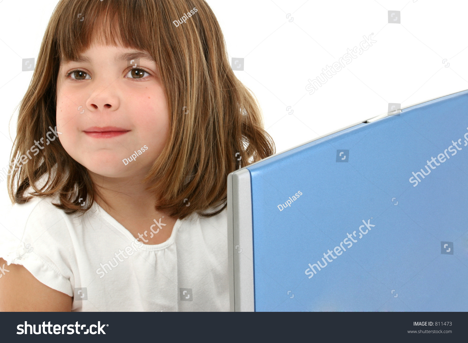 Beautiful 5 Year Old Girl Short Stock Photo 811473