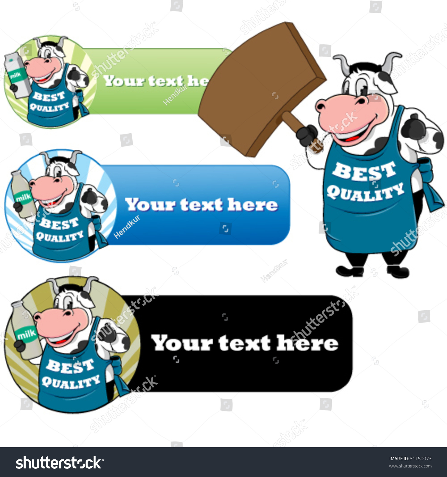 Funny cow character wearing apron stock vector 81150073 shutterstock funny cow character wearing apron buycottarizona