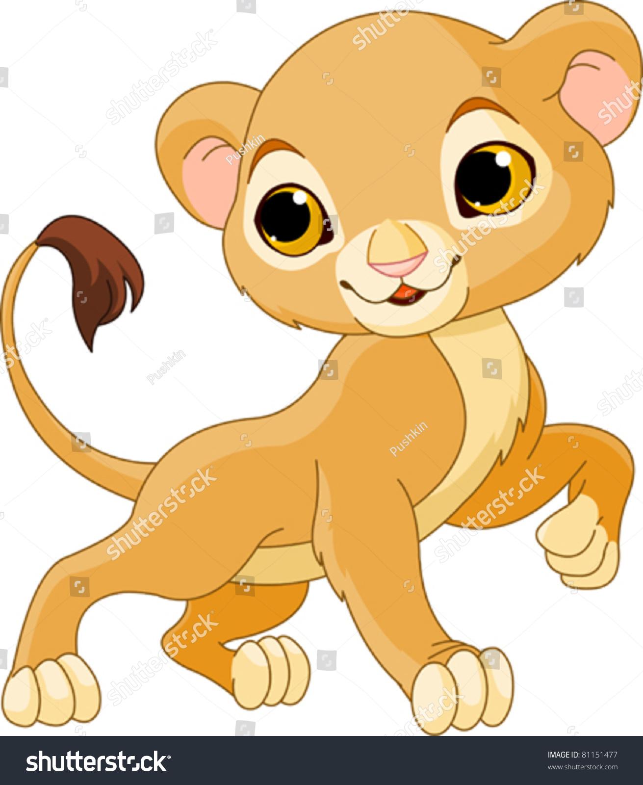 how to draw a lion cub cartoon