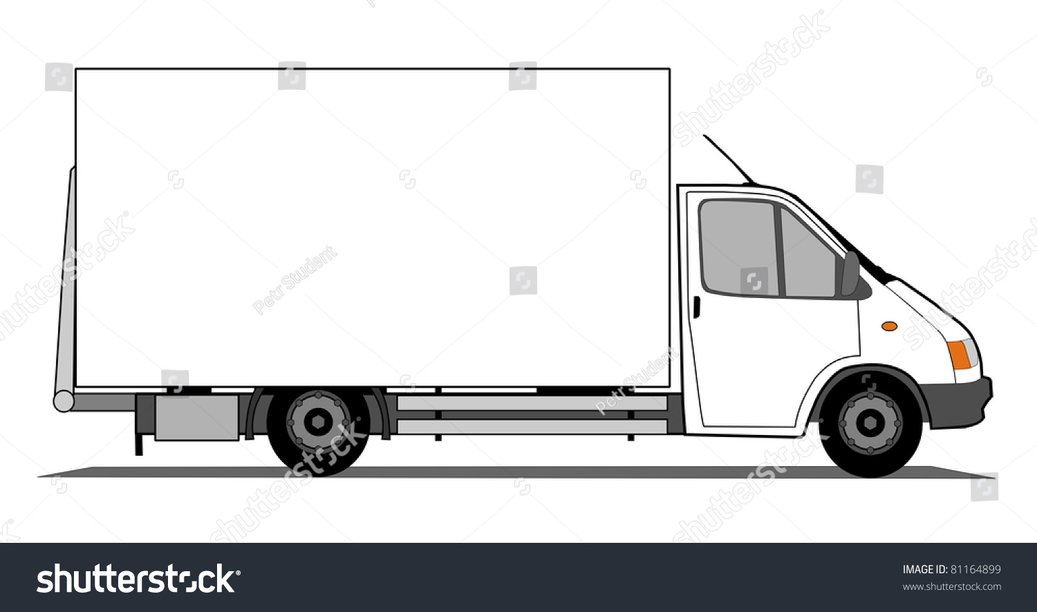 Delivery Van Stock Vector 81164899 : Shutterstock
