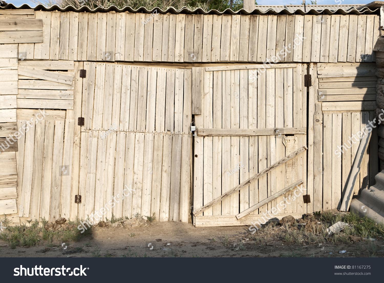 Old Wooden Garage Door Stock Photo 81167275 Shutterstock