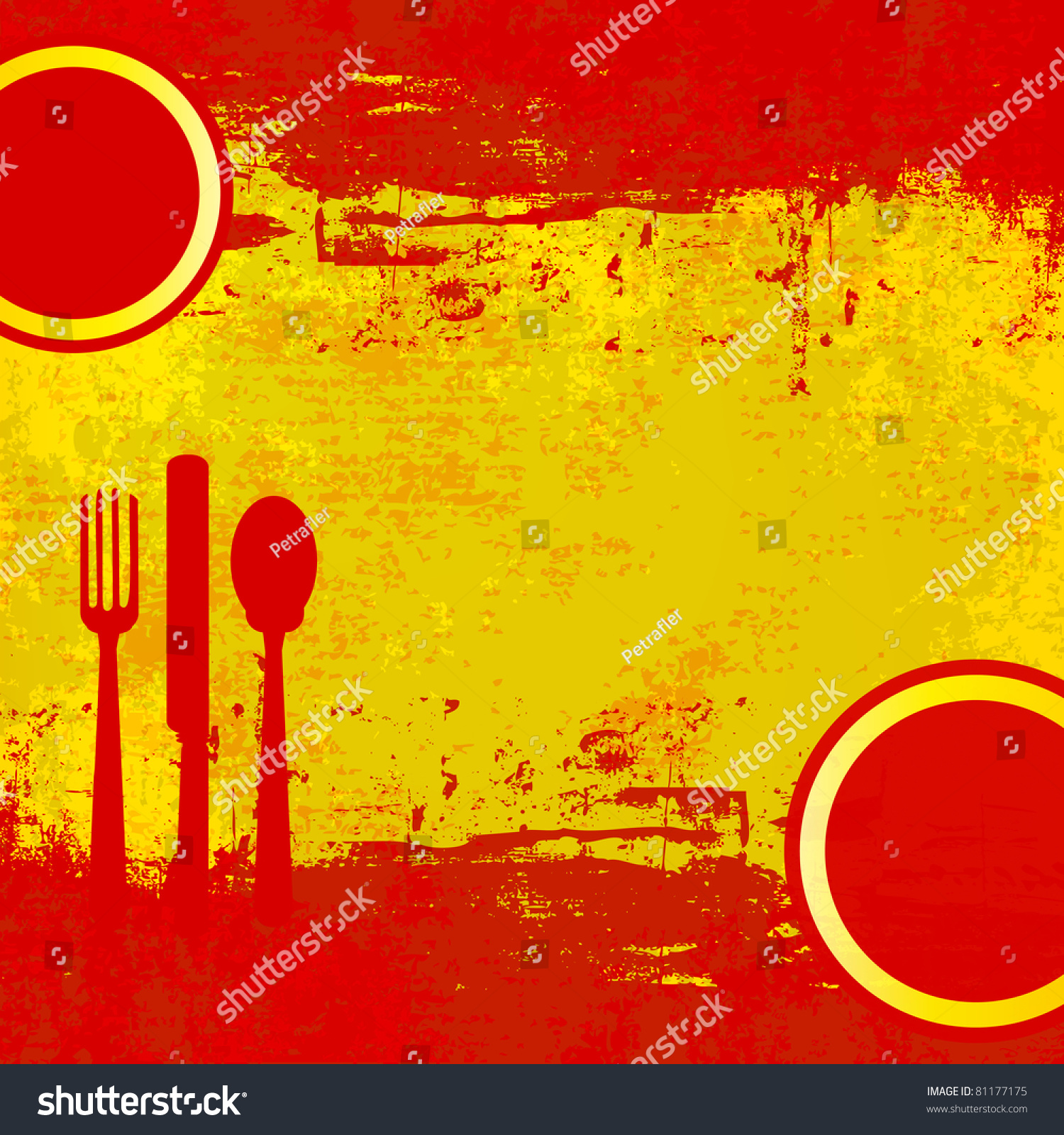 Spanish menu template over flag of spain stock photo for Tapas menu template