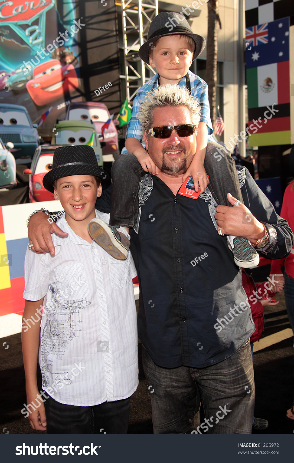 Guy Fieri with his two sons