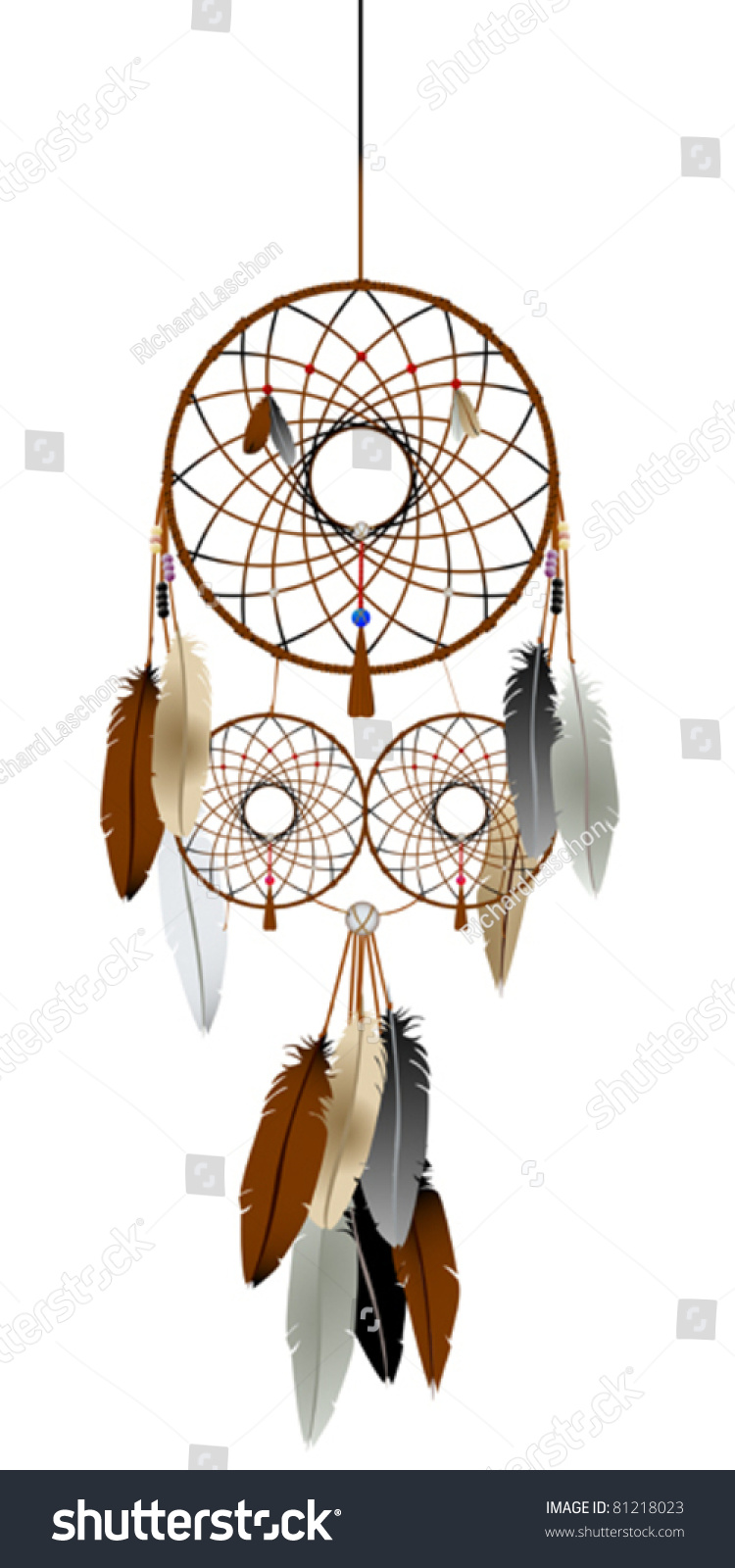 A native american indian dream catcher graphic stock for Dream catcher graphic