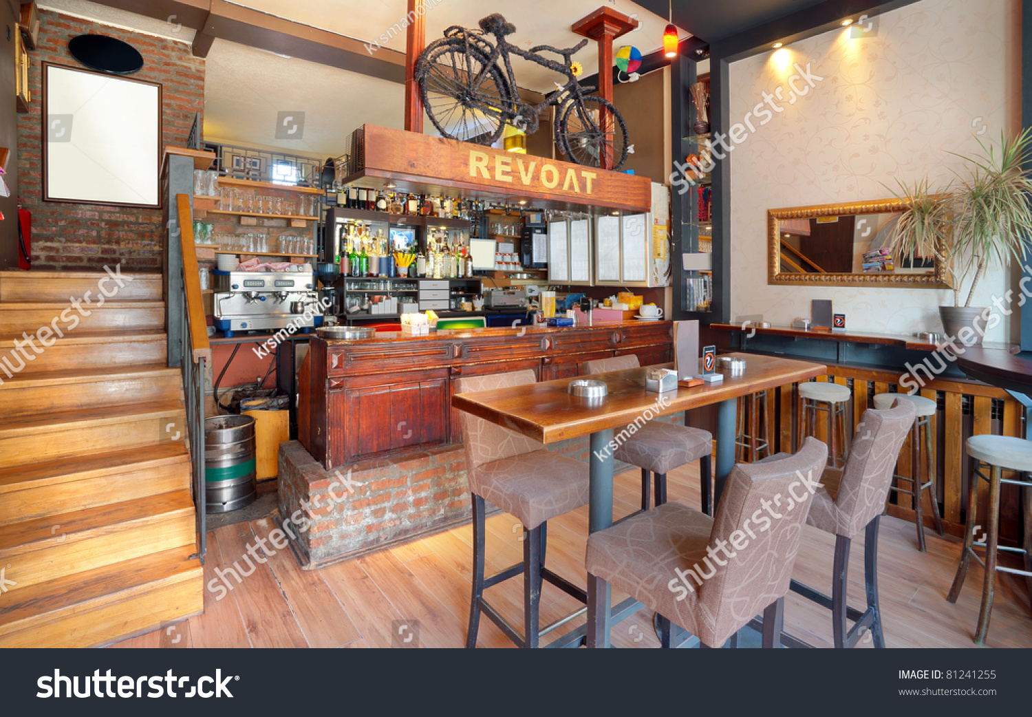Modern cafe furniture - Interior Of A Modern Cafe Furniture Lighting Equipment And Decoration