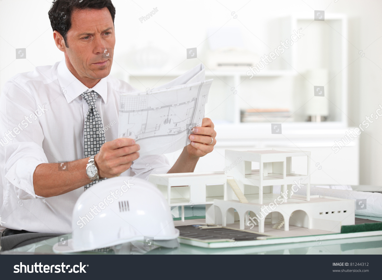 Architect At Work Stock Photo 81244312 : Shutterstock