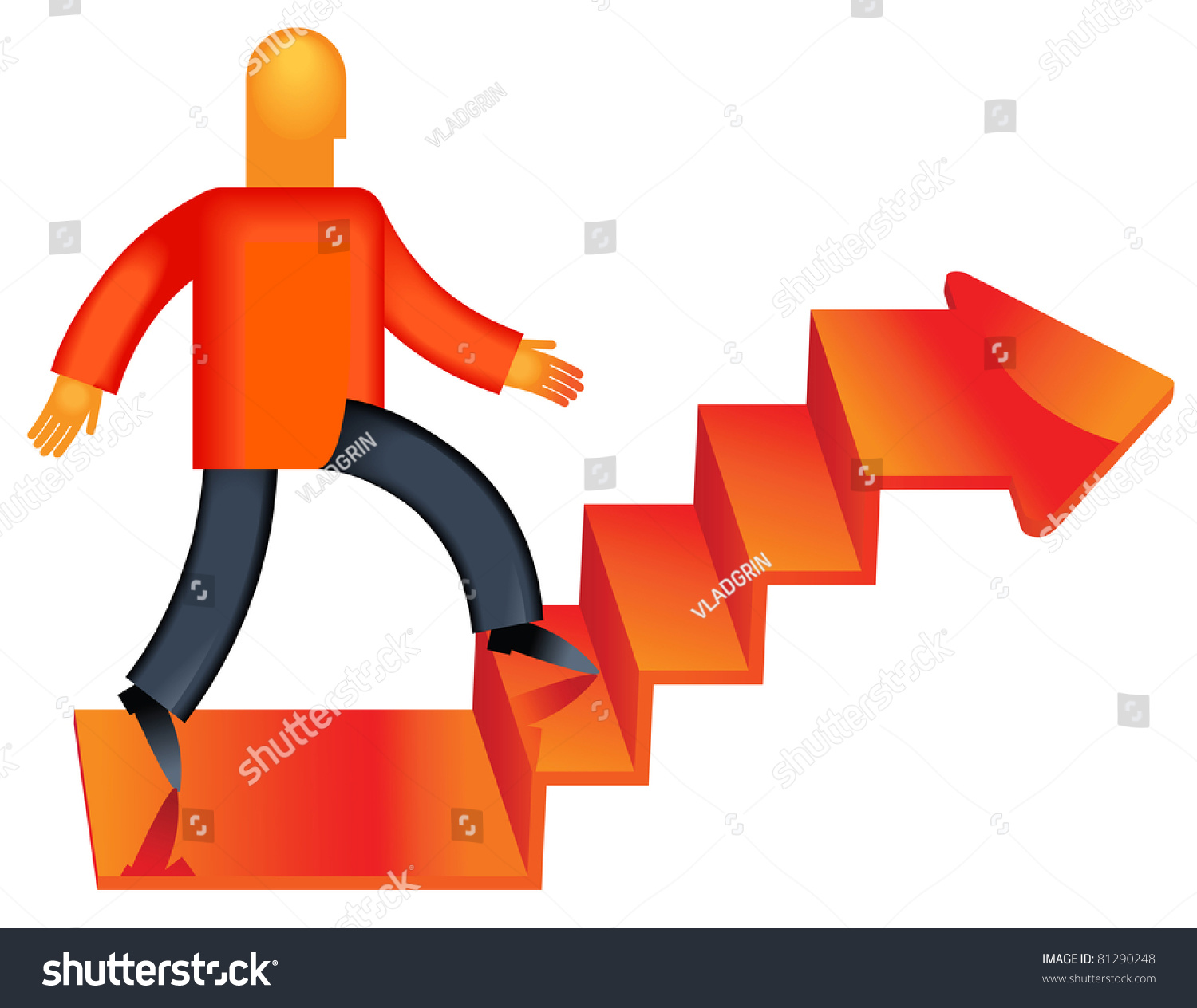 move forward professional innovations career growth stock vector move forward professional innovations career growth