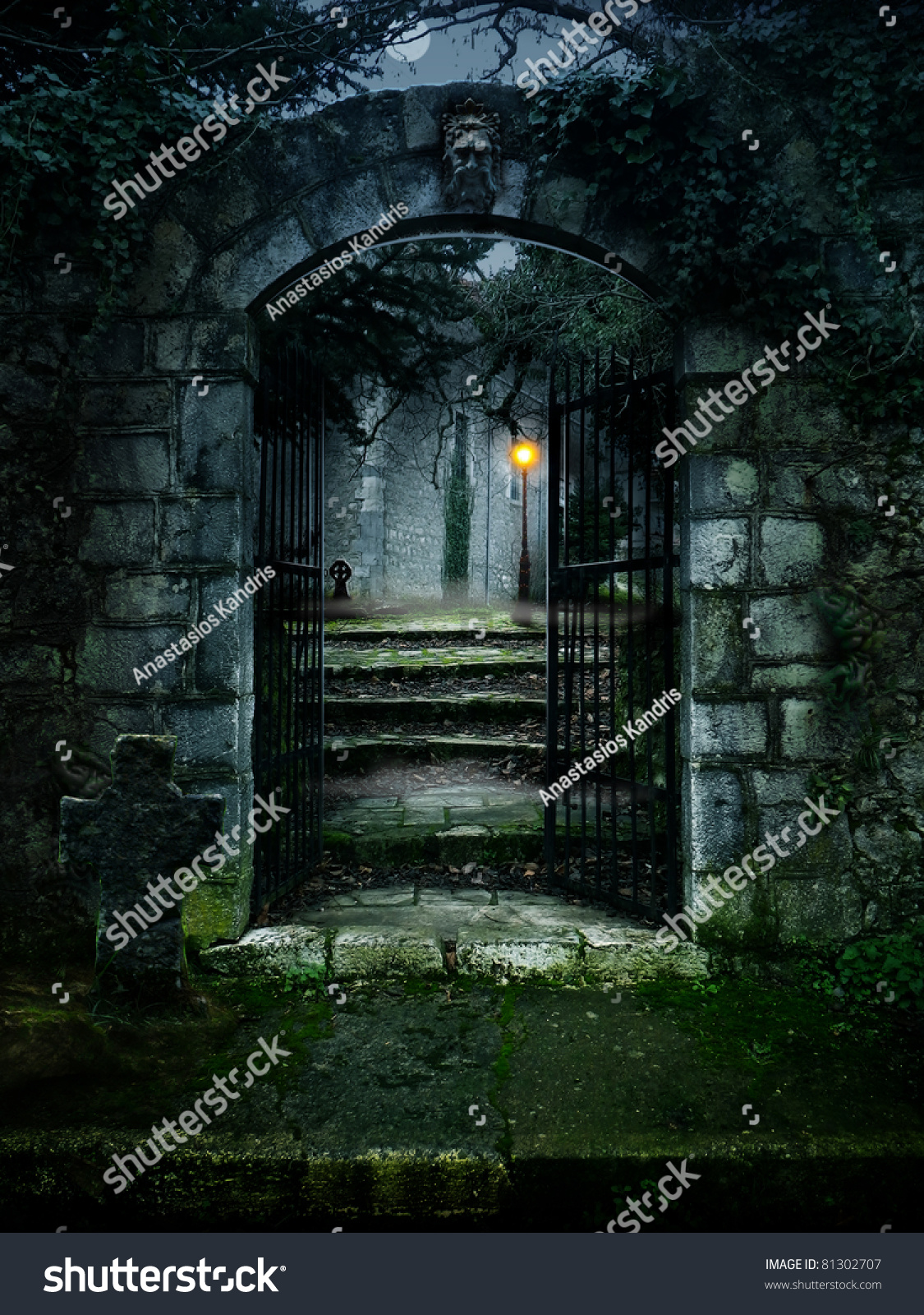 Illustration of a dark haunted old house 81302707 for Dark house music