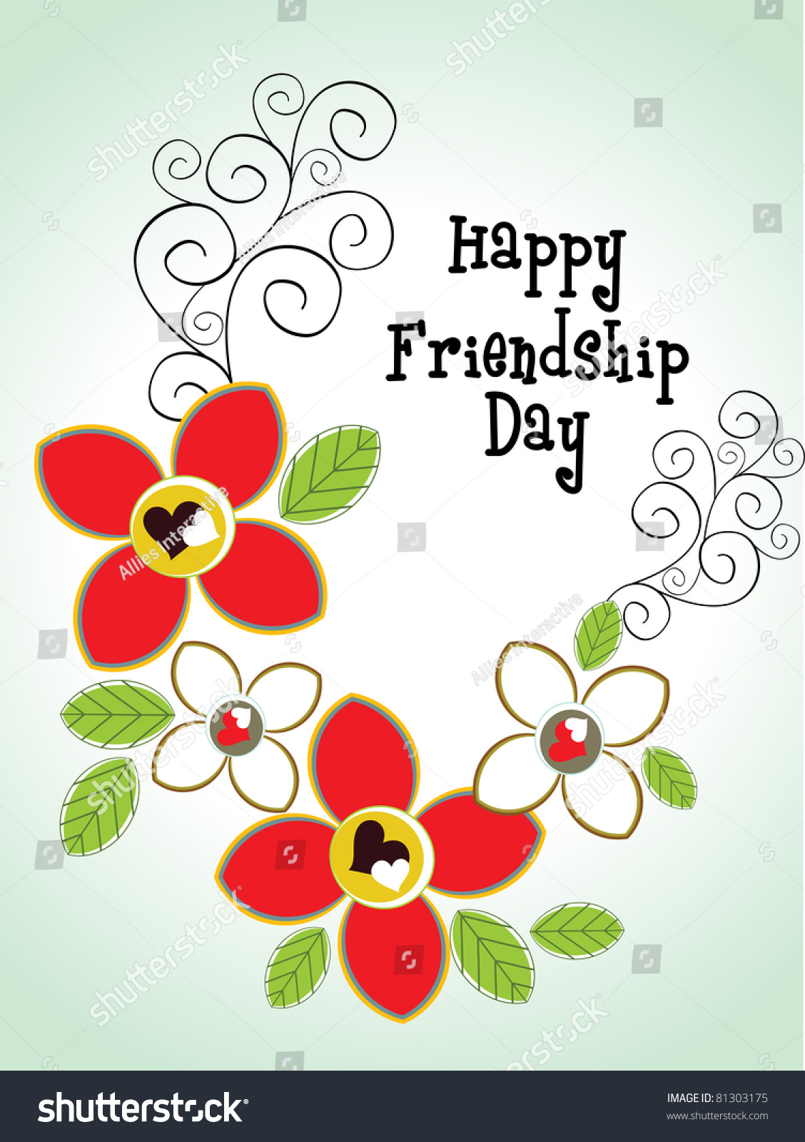 Friendship day greeting card stock vector royalty free 81303175 friendship day greeting card m4hsunfo
