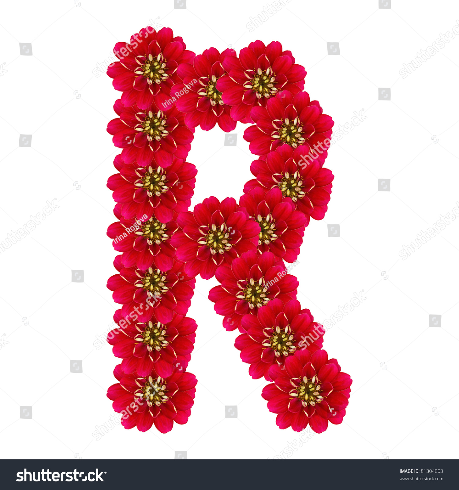 Royalty free letter r from red flowers 81304003 stock photo letter r from red flowers altavistaventures Choice Image