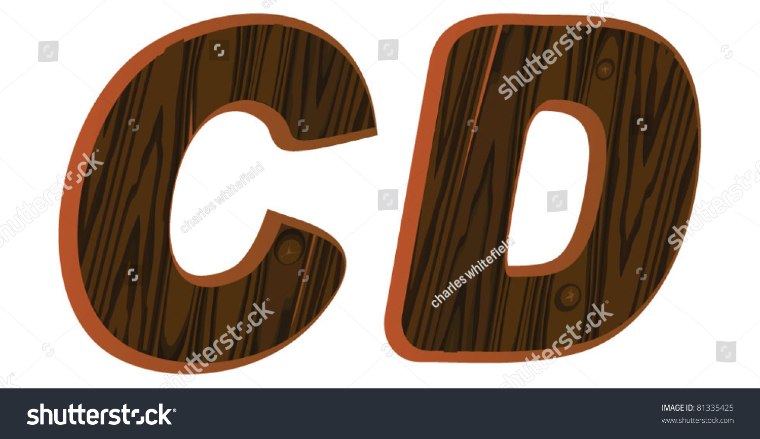 c d wood font isolated wooden letter type stock vector illustration 81335425 shutterstock