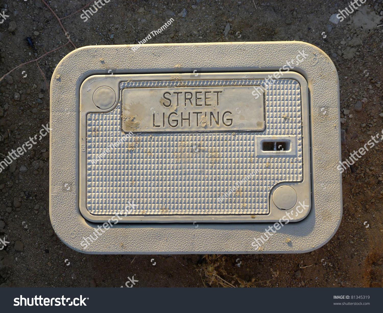 Street Lighting Underground Pull Box Used Stock Photo (Safe to Use ...