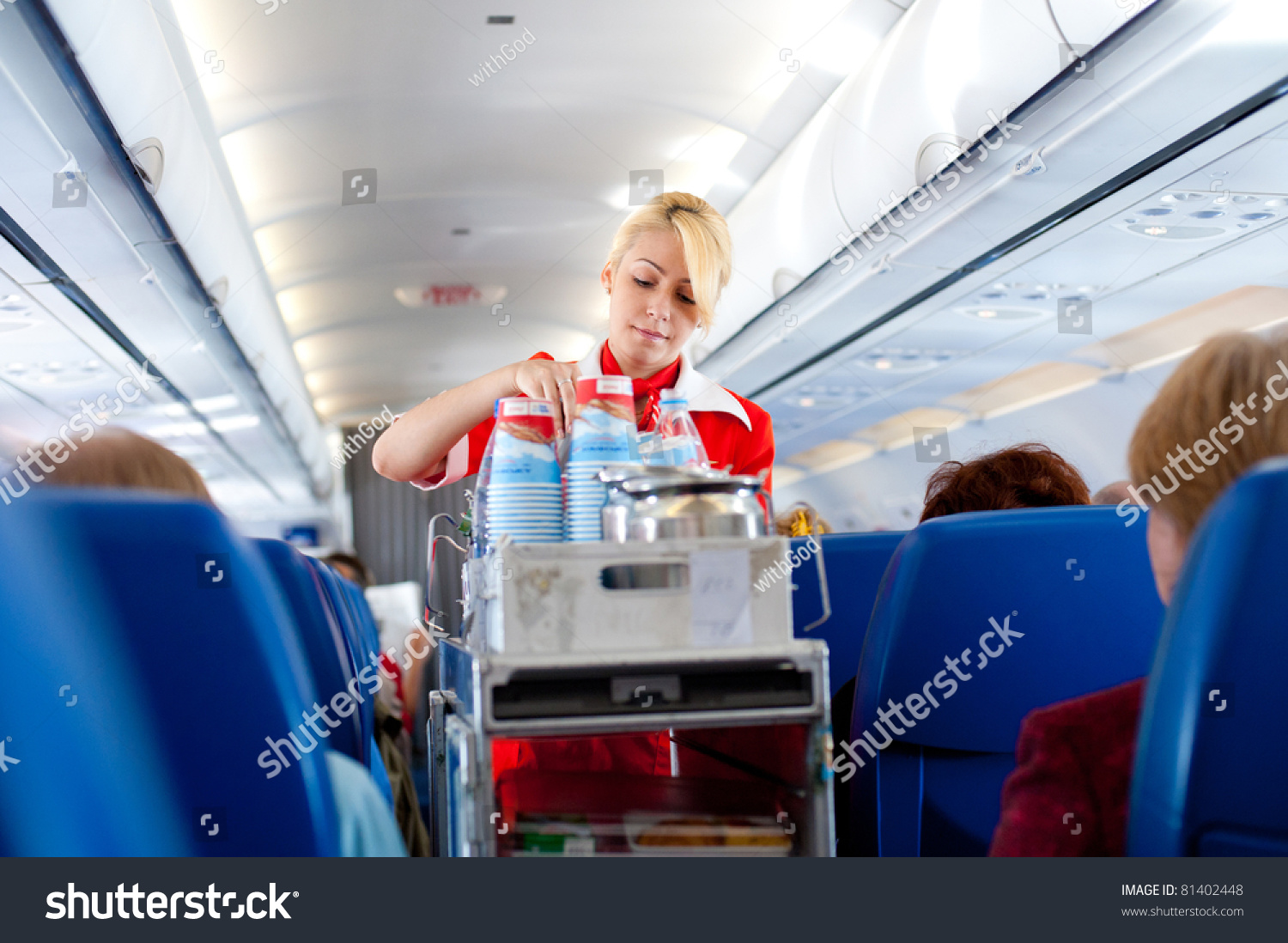 Air hostess helps out 10