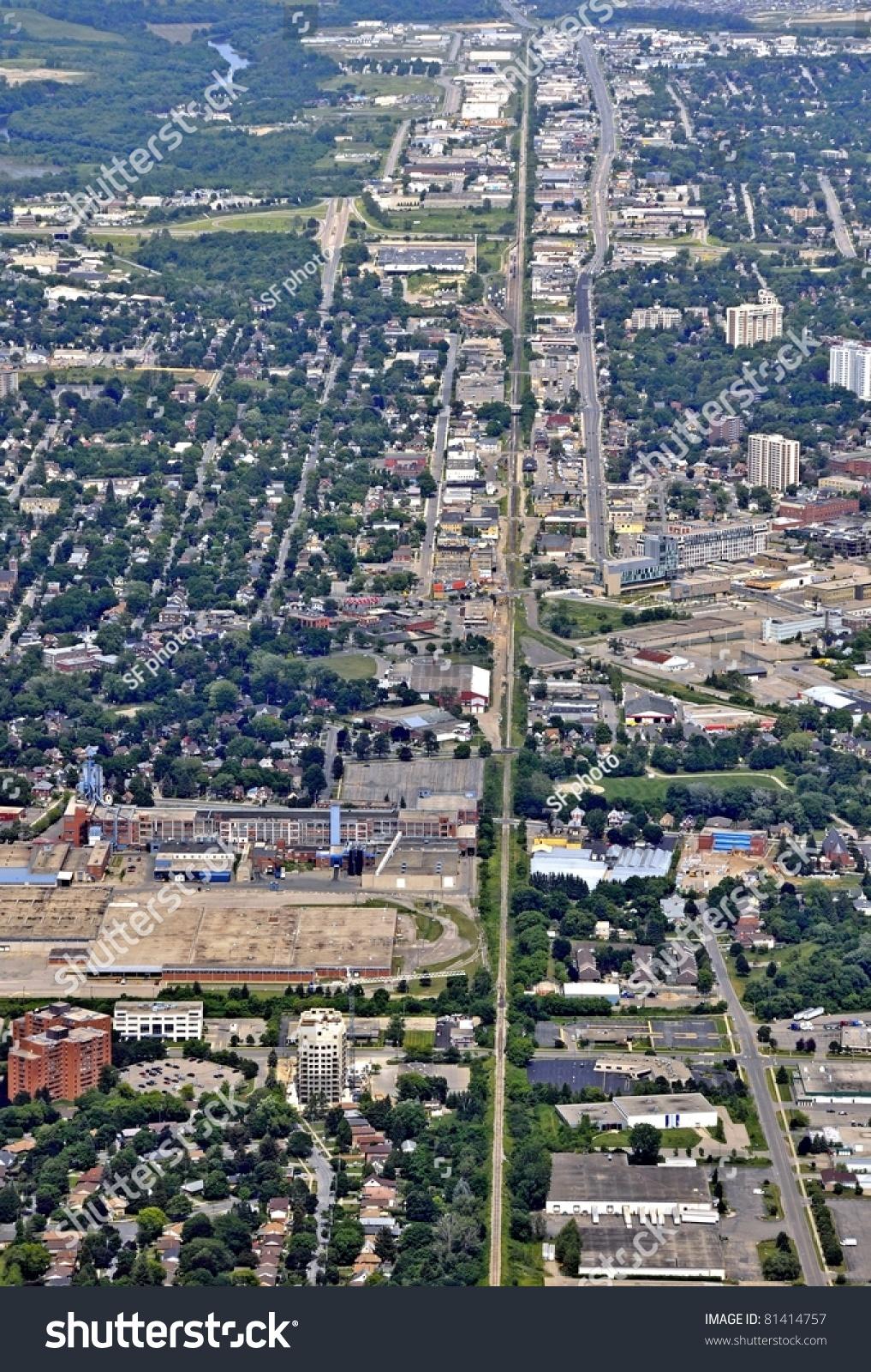 Aerial View Waterloo Near Cherry Park Stock Photo 81414757 ...