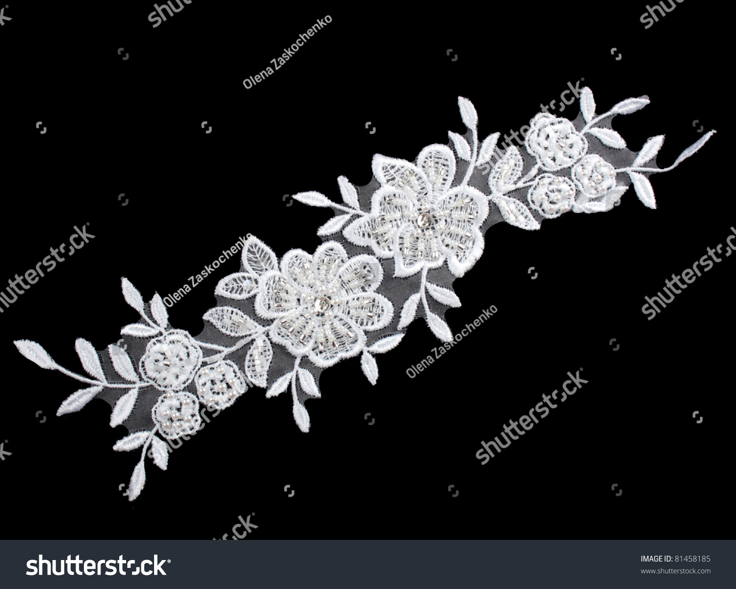 Luxury Wedding Lace Pearls Isolated On Stock Photo ...