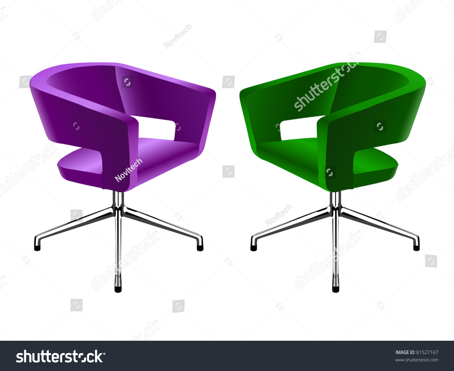 Modern Colored Chairs Eps8