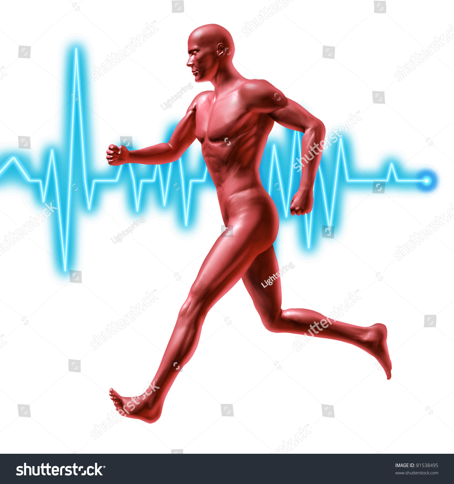 Exercise Fitness Symbol Represented By Jogging Stock ...