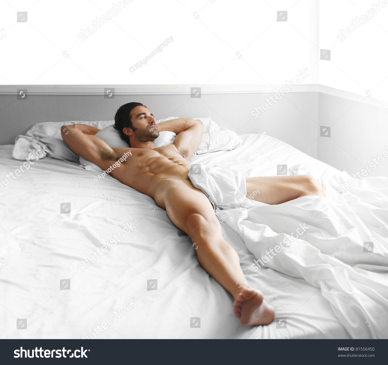 Hot men naked in bed