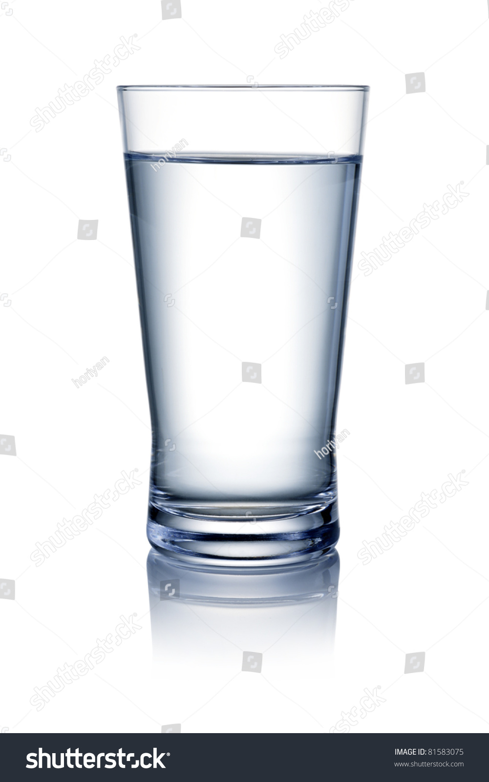 Glass water isolated on white background stock photo for Water glass images