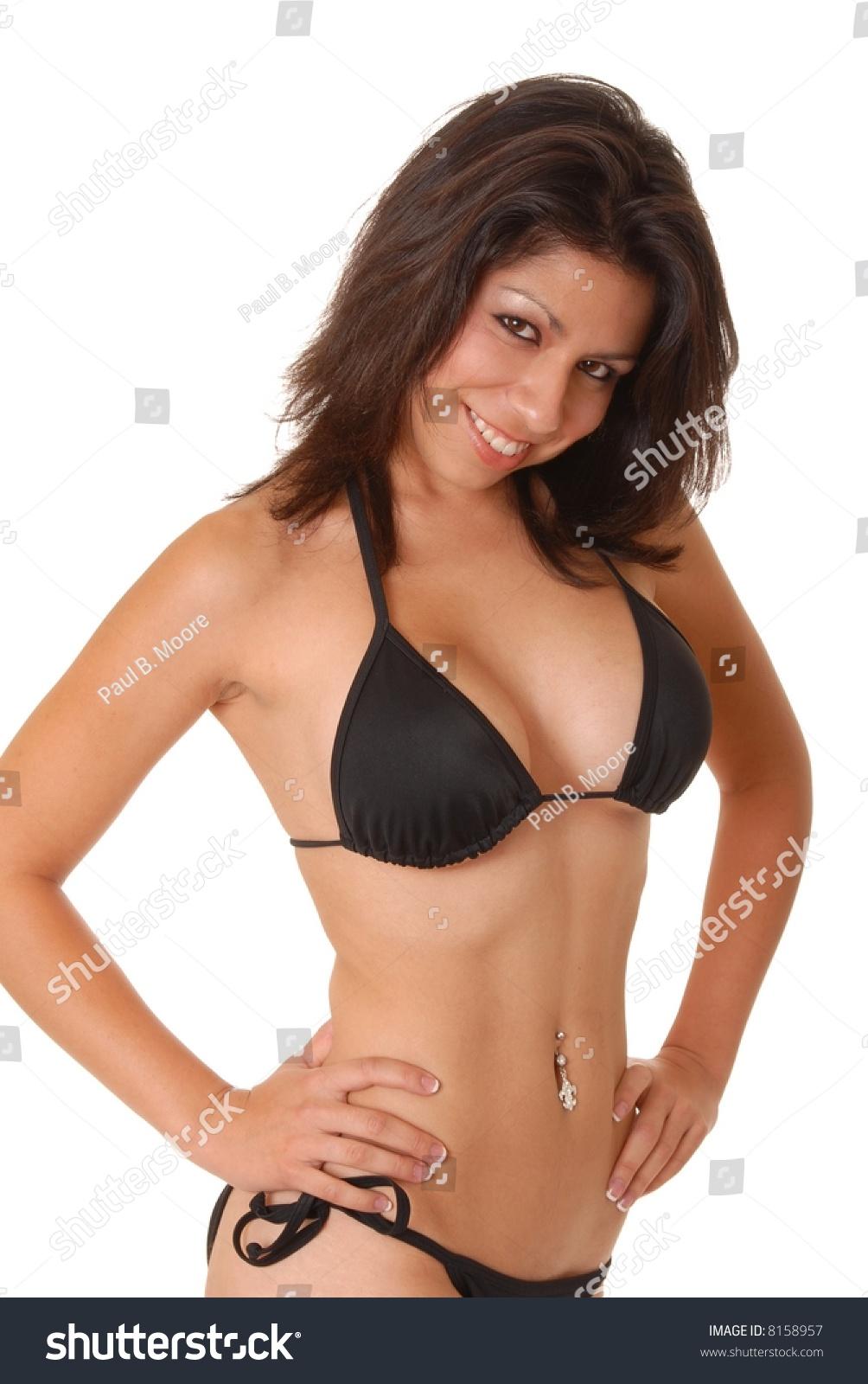 isolated on white image sexy latina stock photo (royalty free