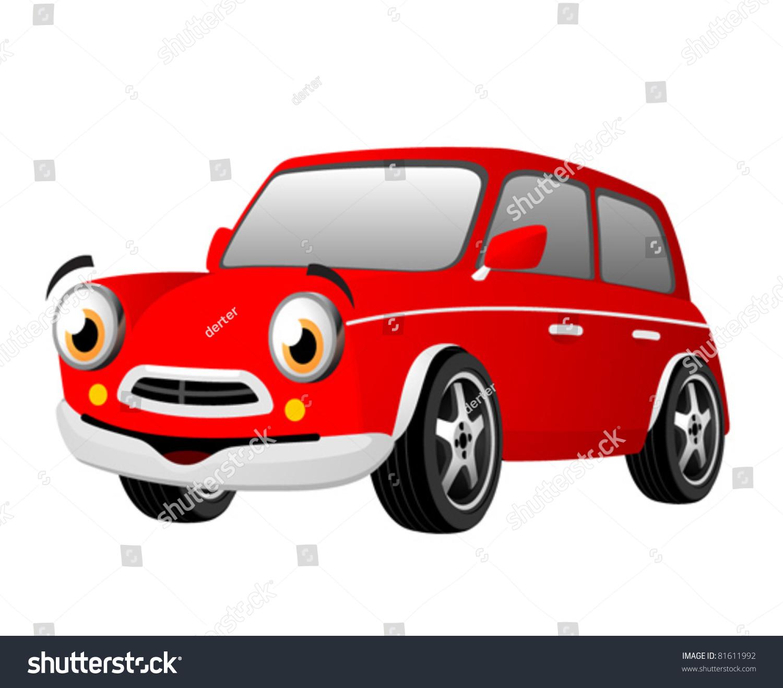red funny cartoon car stock vector royalty free 81611992