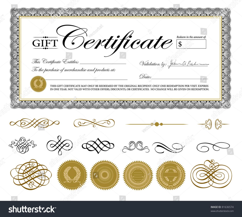 vector premium certificate template ornaments easy stock vector 81636574 shutterstock. Black Bedroom Furniture Sets. Home Design Ideas