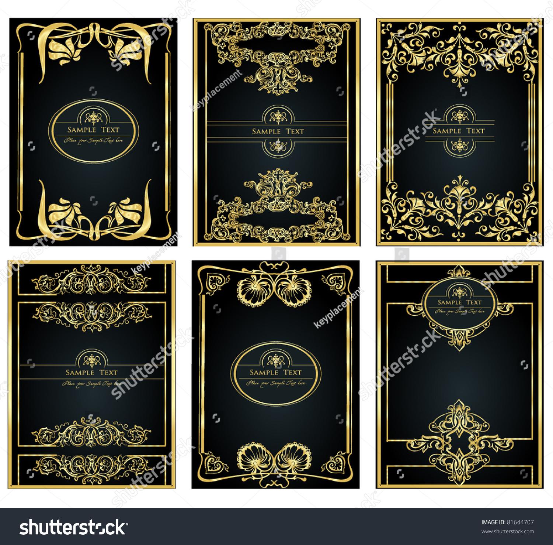 Book Cover Design Vintage : Vintage gold frame designs can be stock vector