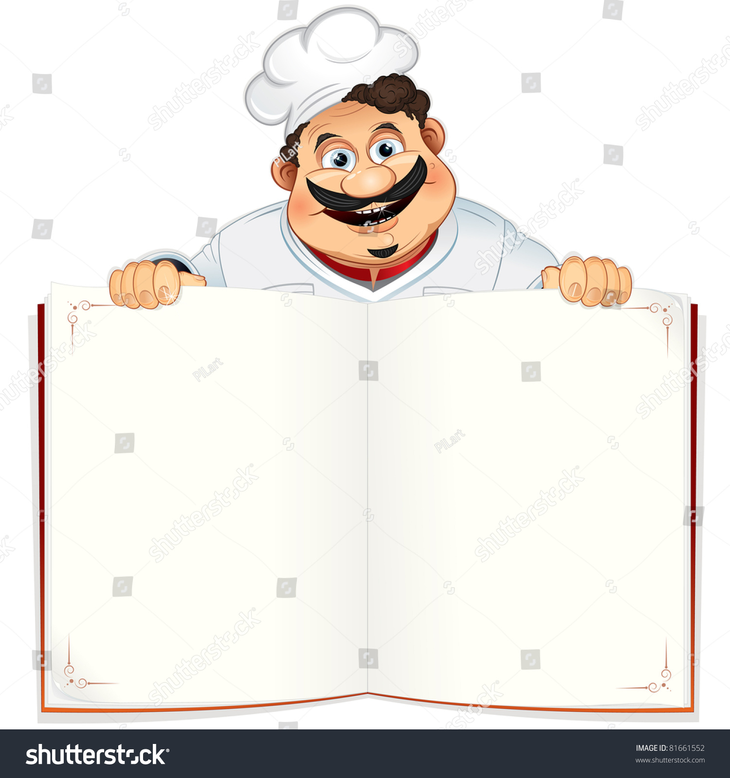 Funny Chef Blank Cookbook Menu Notepad Stock Illustration 81661552 ...