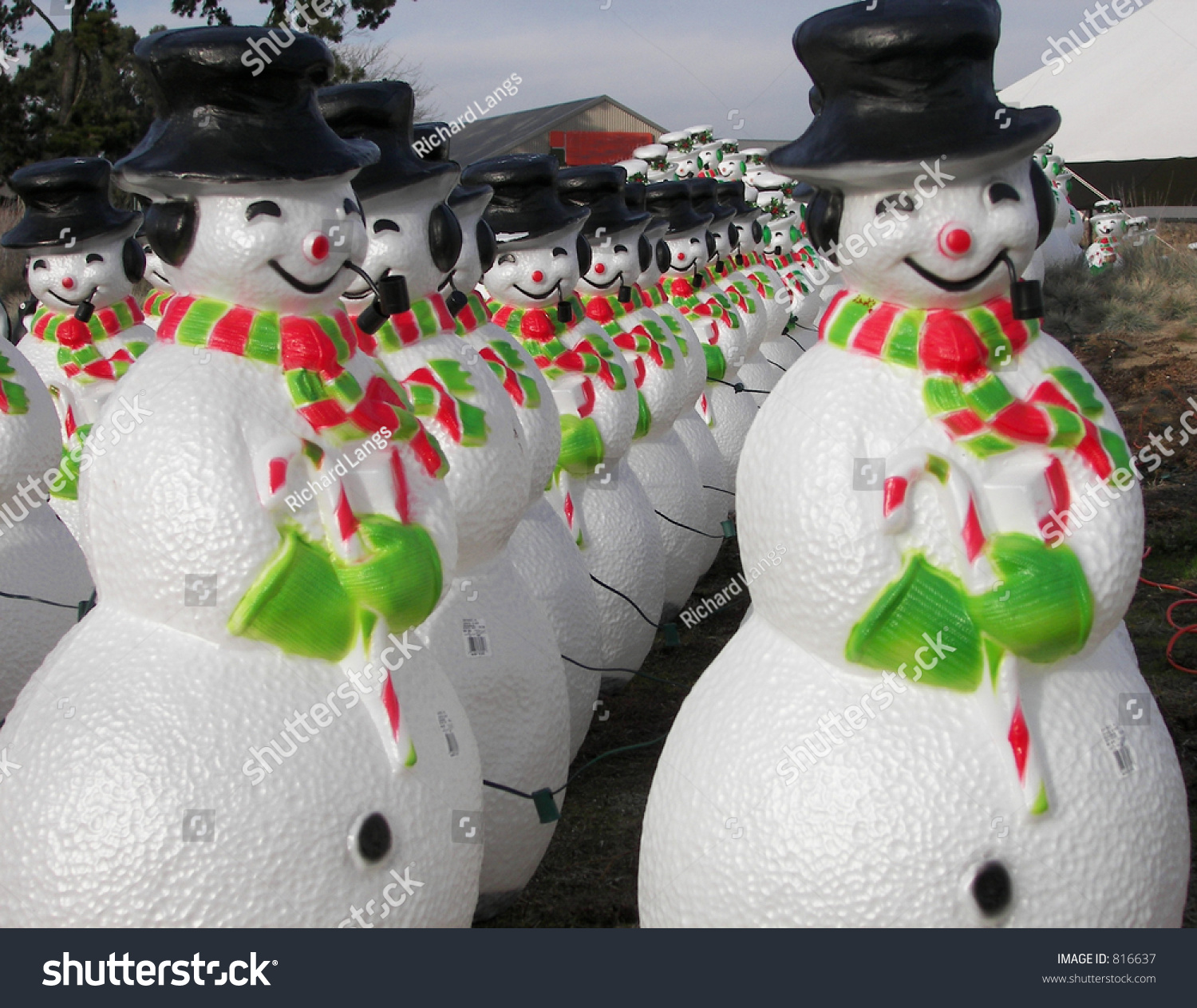 Plastic snowmen for sale in sonoma stock photo 816637 for Plastic snowman
