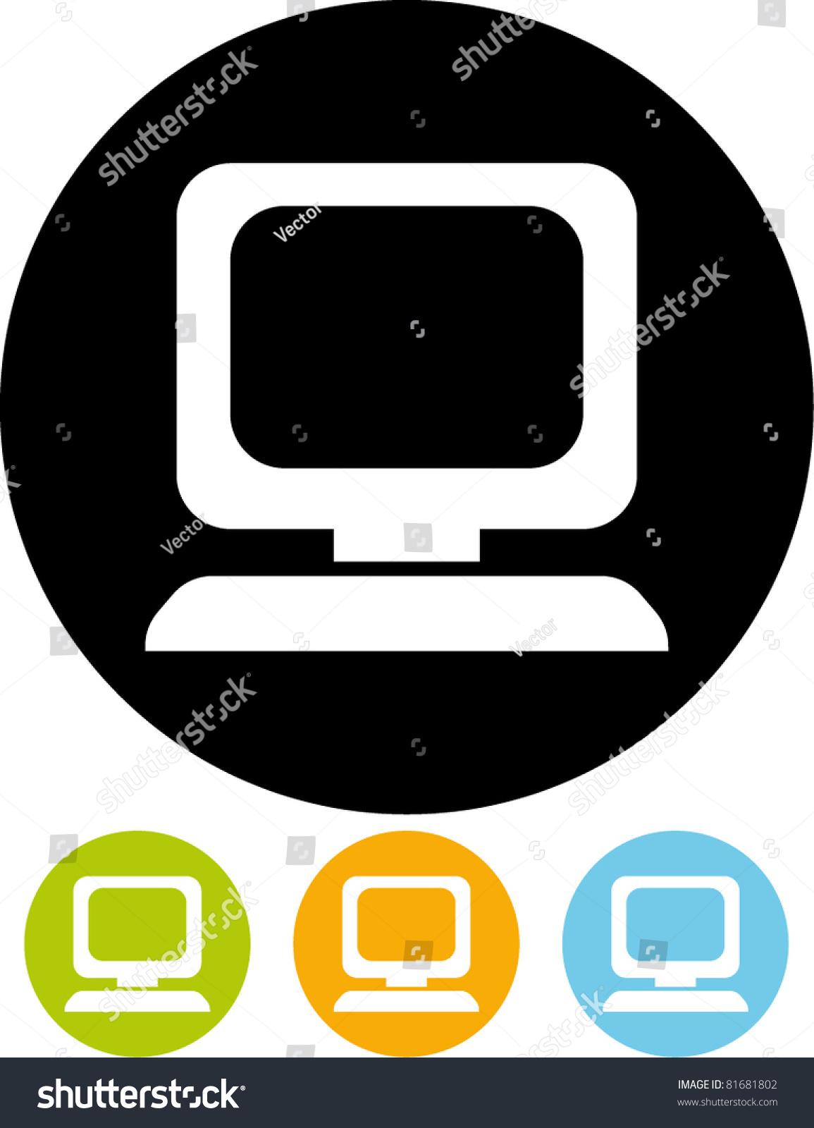 vector desktop computer icon stock vector 81681802