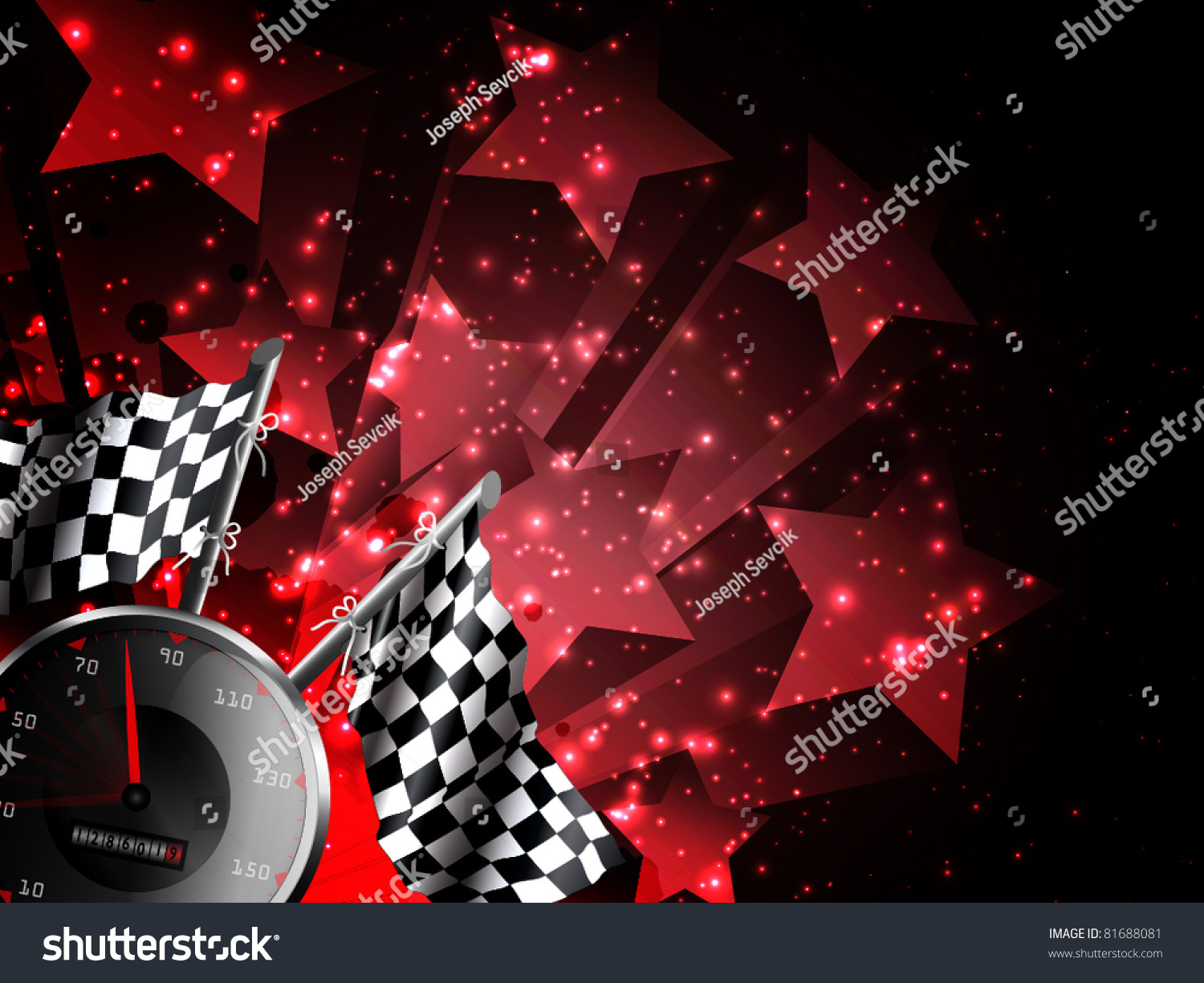 Hot racing background with stars 81688081