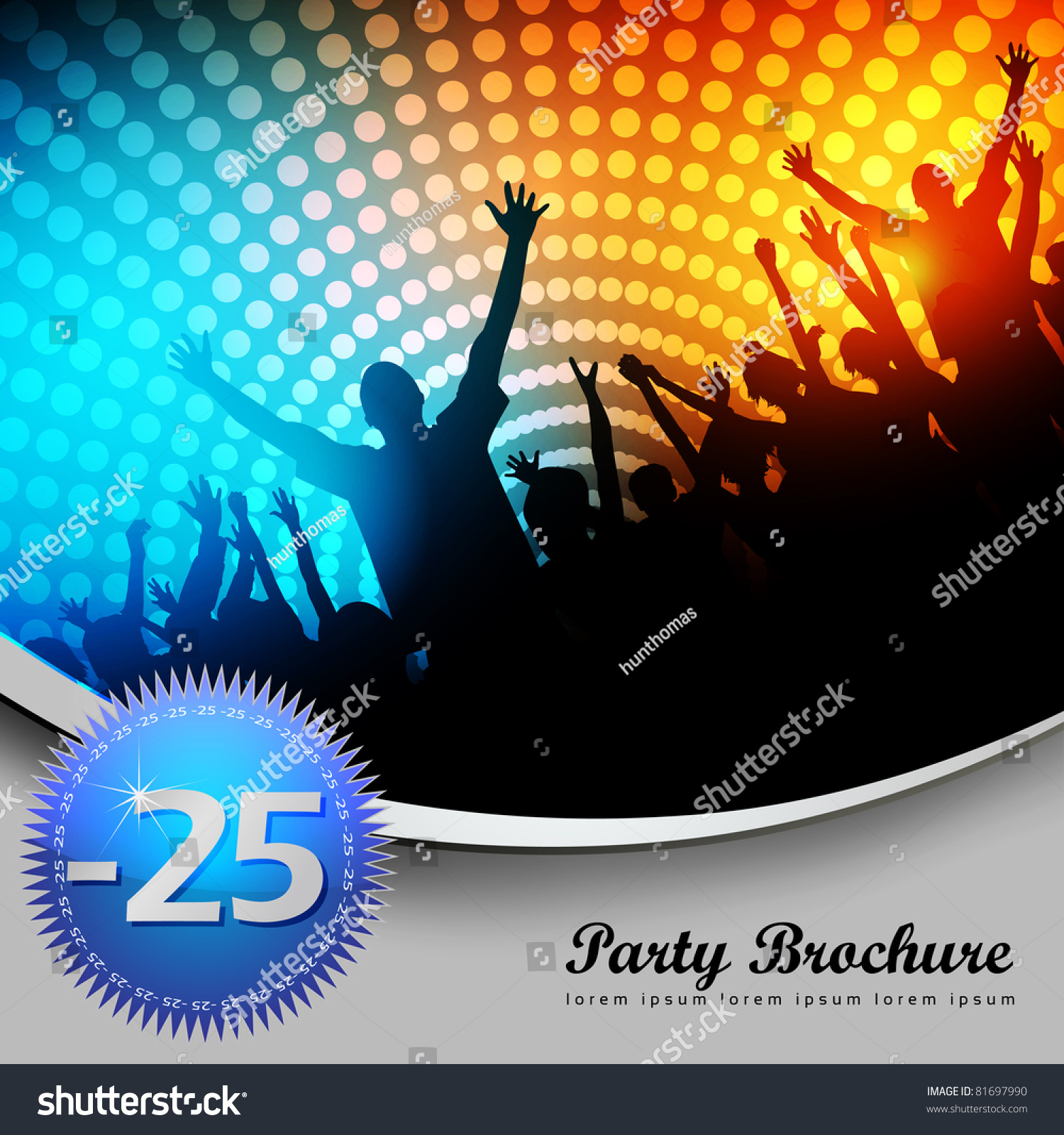 party brochure template