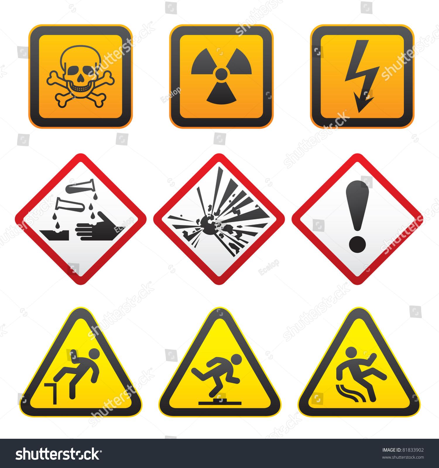 Warning symbols hazard signsfirst set bitmap stock illustration warning symbols hazard signs first set bitmap copy my id 76995334 biocorpaavc Choice Image