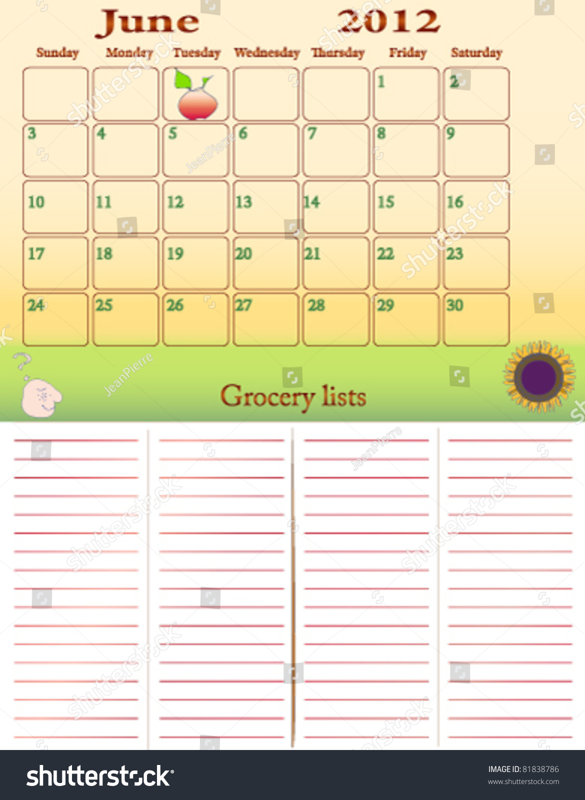 July 2012 weekly grocery lists help stock vector 81838786 shutterstock help yourself cooking and do not forget your grocery items solutioingenieria Gallery