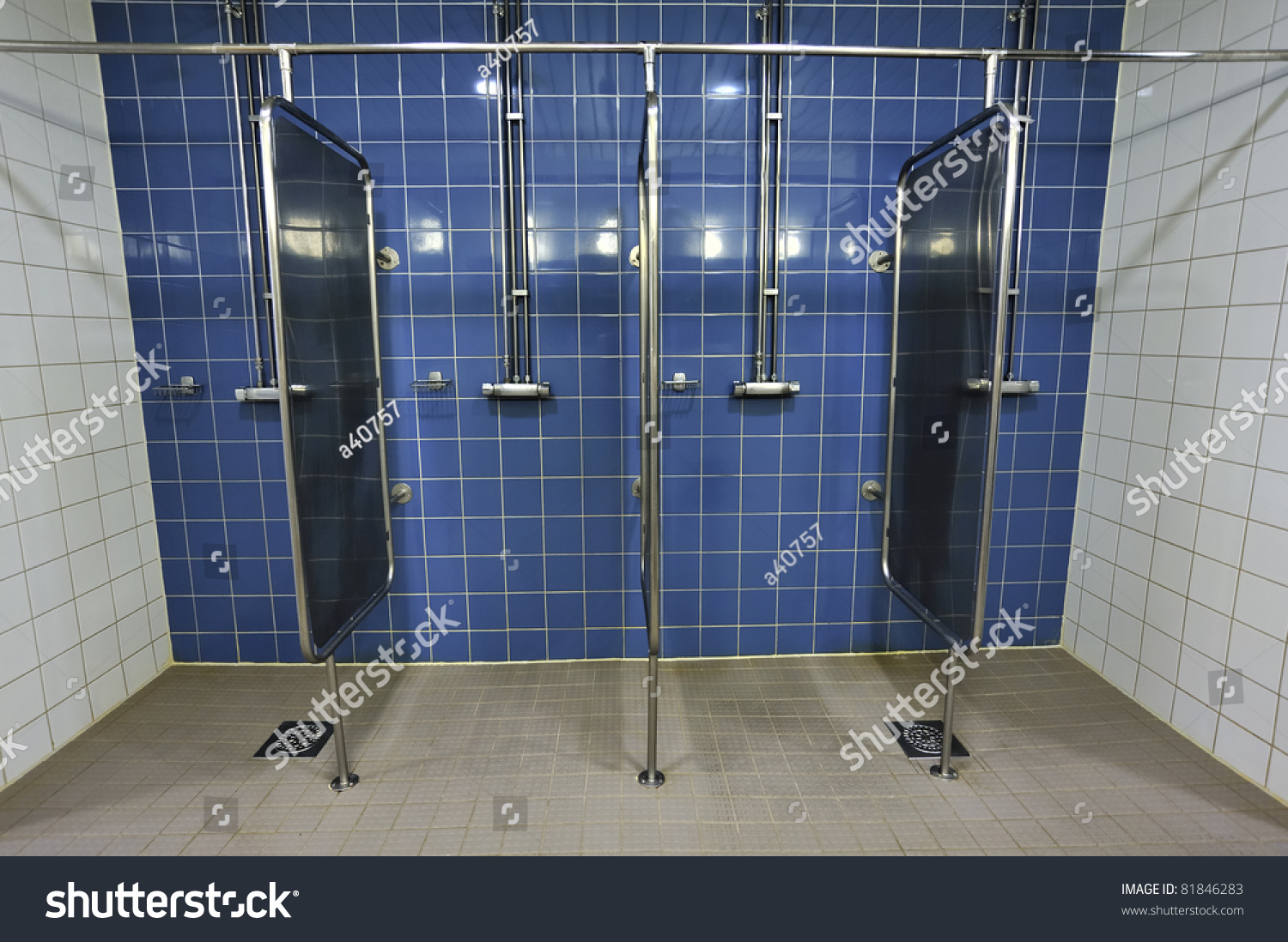 Showers Row Stock Photo (Edit Now)- Shutterstock