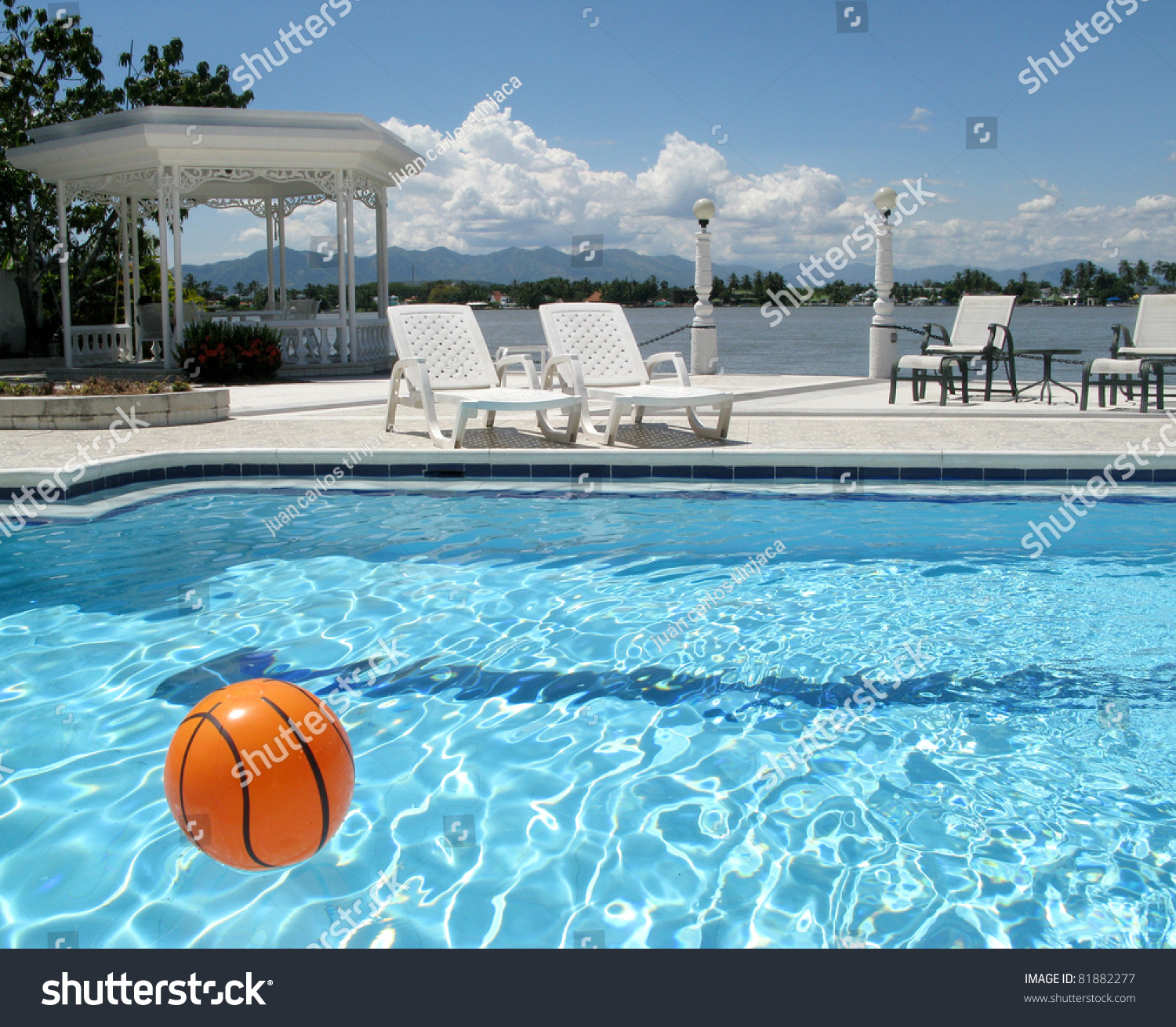 Angle View Swimming Pool On Hotel Stock Photo 81882277 Shutterstock